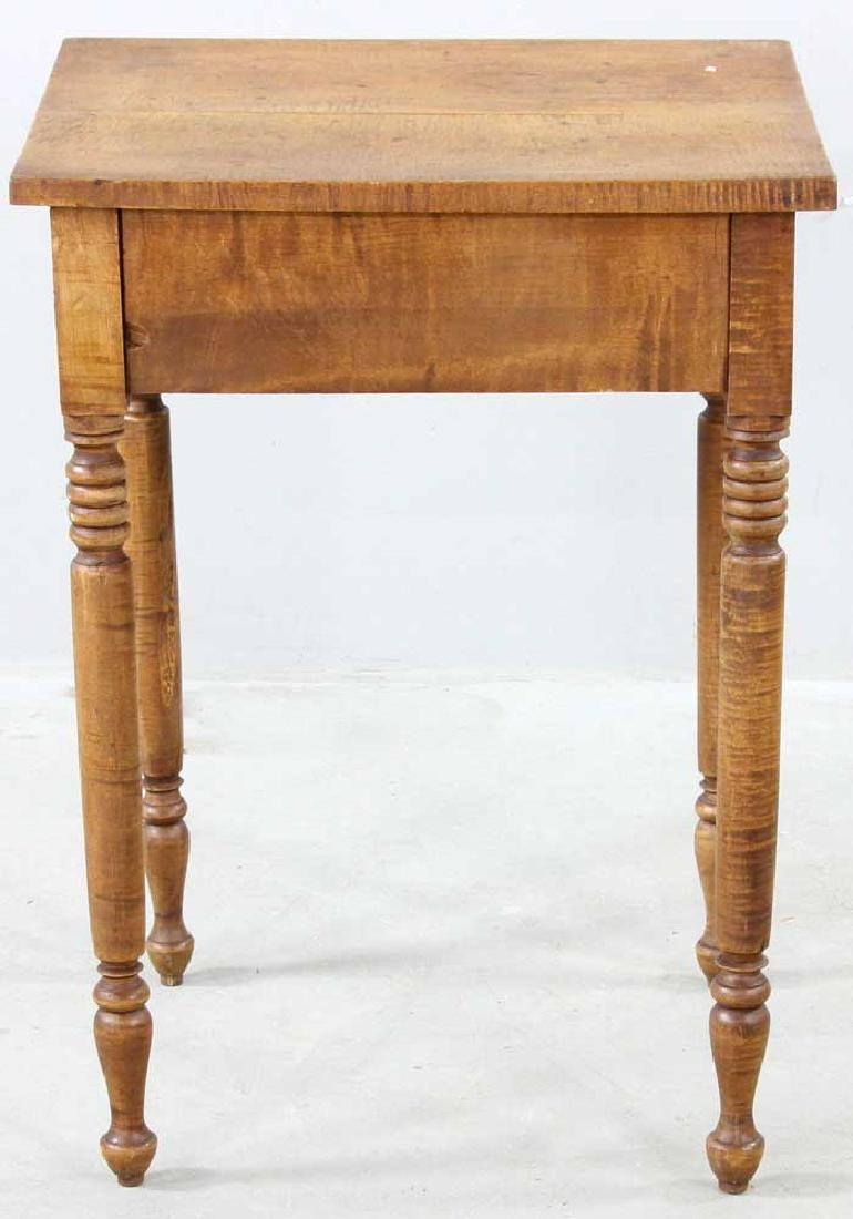 Early 19th C. Federal Tiger Maple Stand - 5