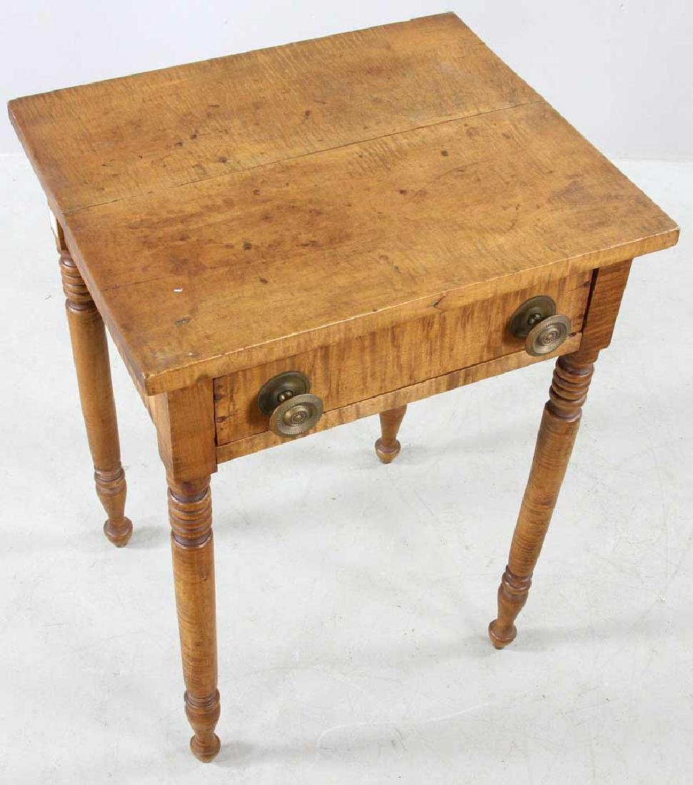 Early 19th C. Federal Tiger Maple Stand - 7