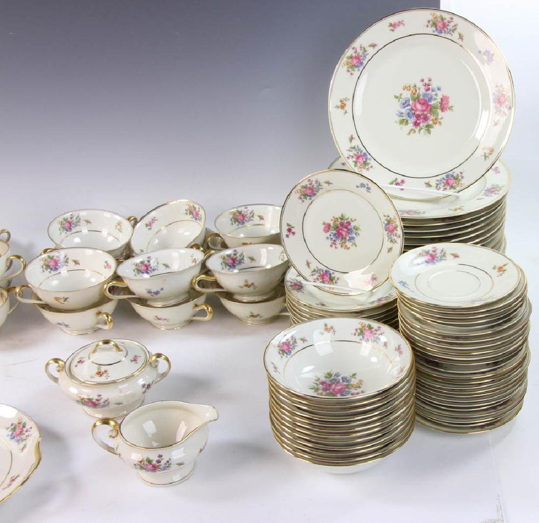 Bavarian Tirschenreuth Porcelain Dinner Set - 5