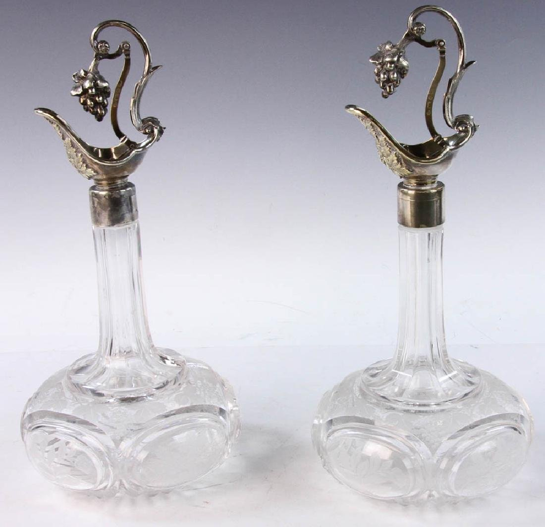 19th C. English Cut Glass Cruets