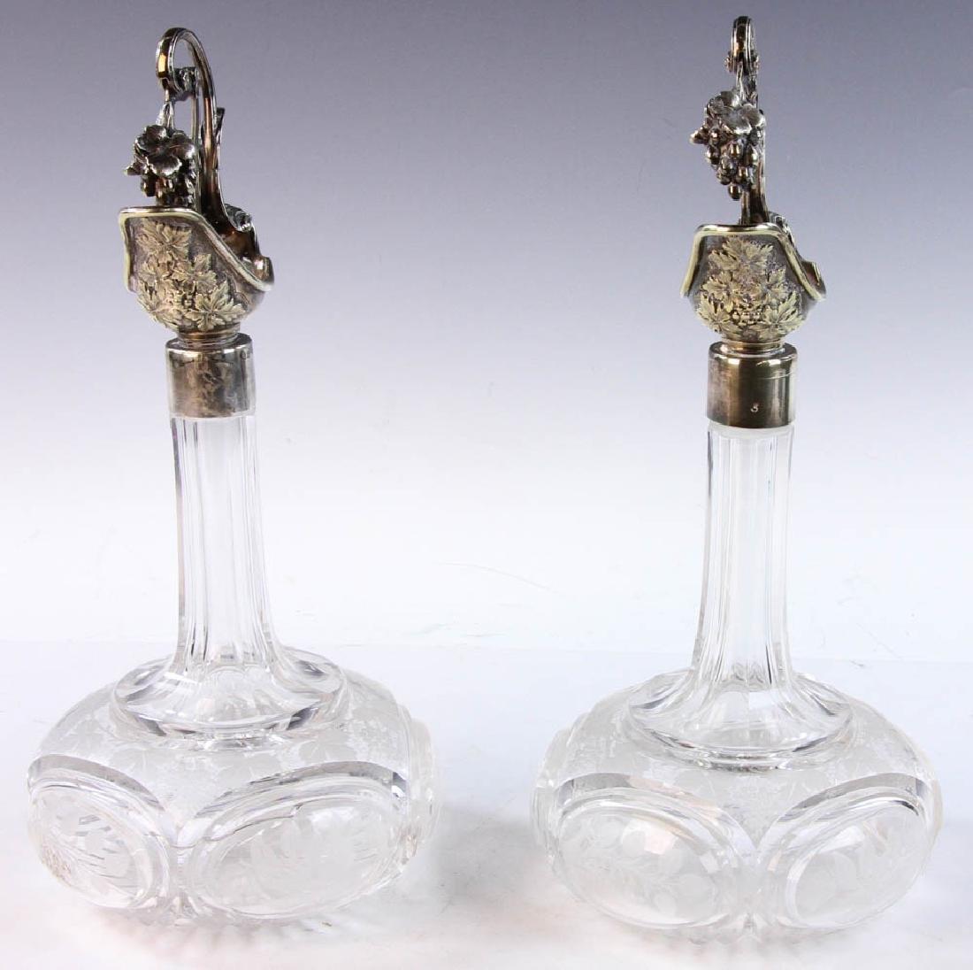 19th C. English Cut Glass Cruets - 3