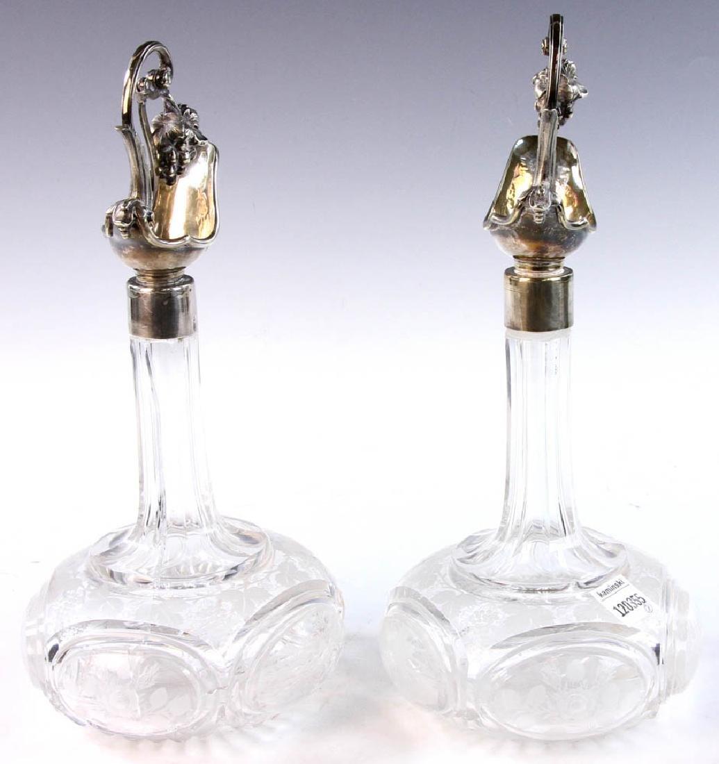 19th C. English Cut Glass Cruets - 4