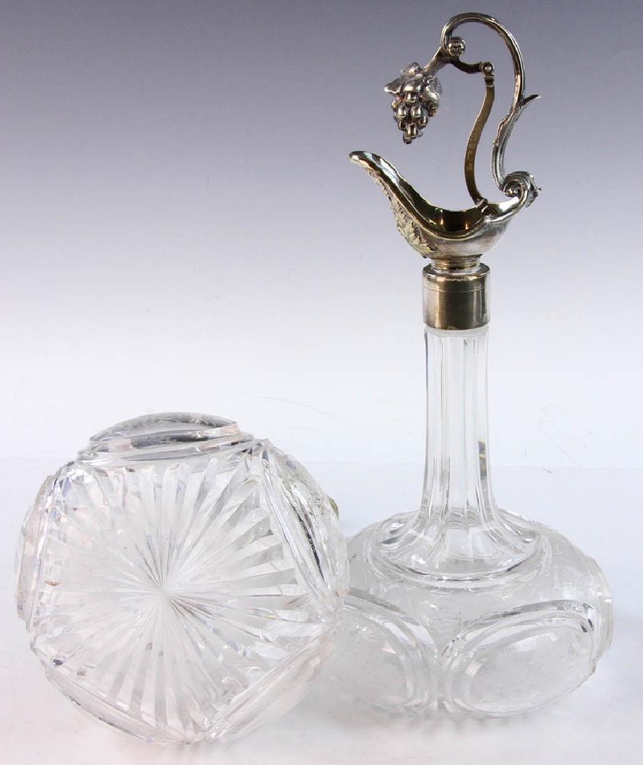 19th C. English Cut Glass Cruets - 8