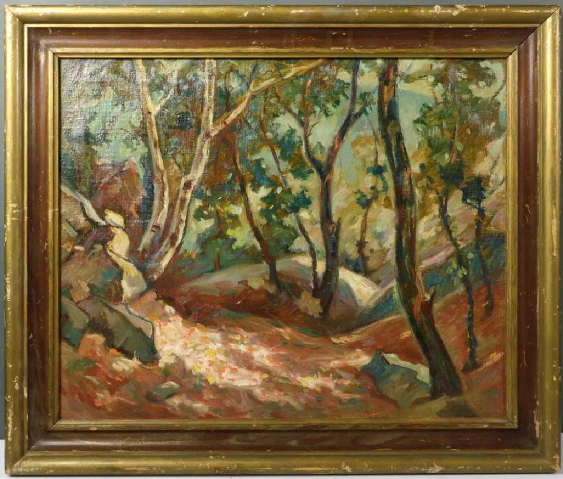 J. Fastovsky, Forest View, Oil on Canvas