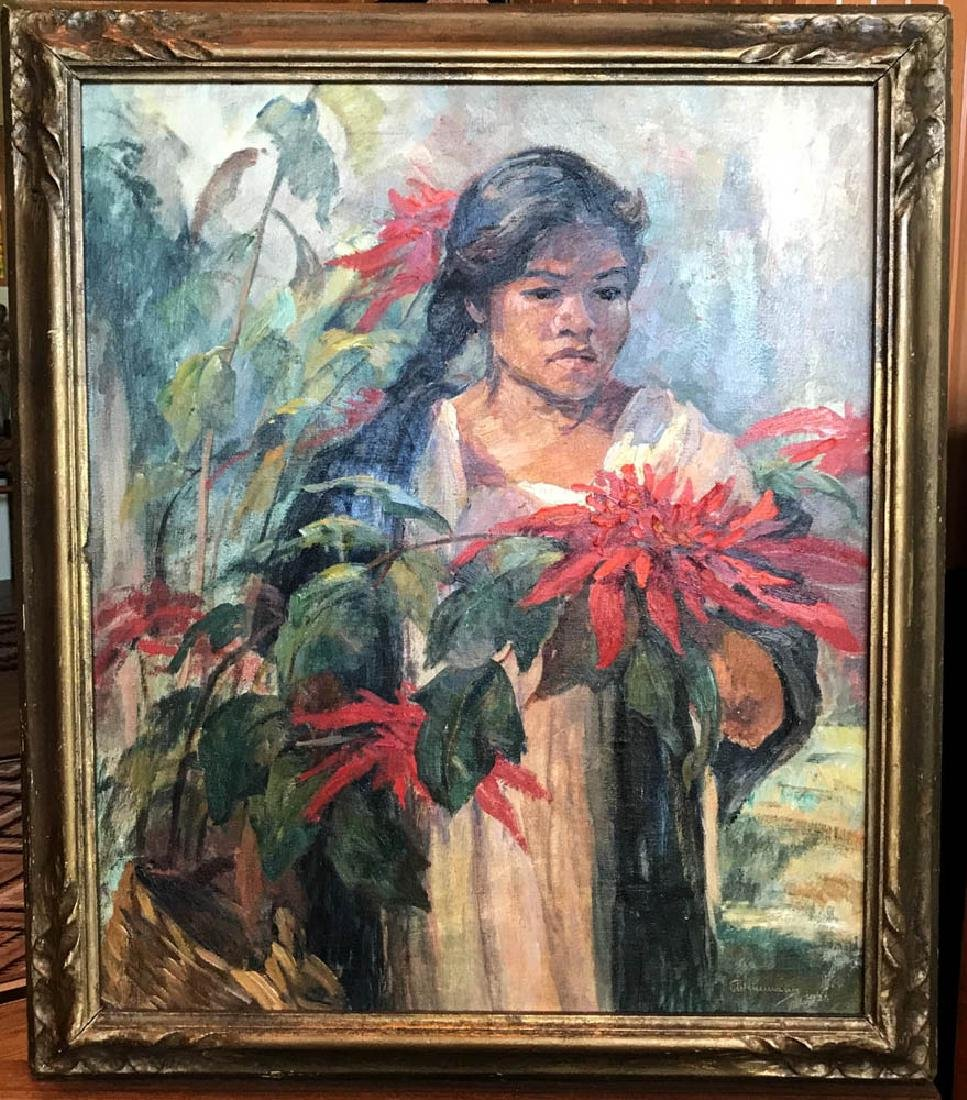 Elmer Weinmann, Mexican Girl, Oil on Canvas