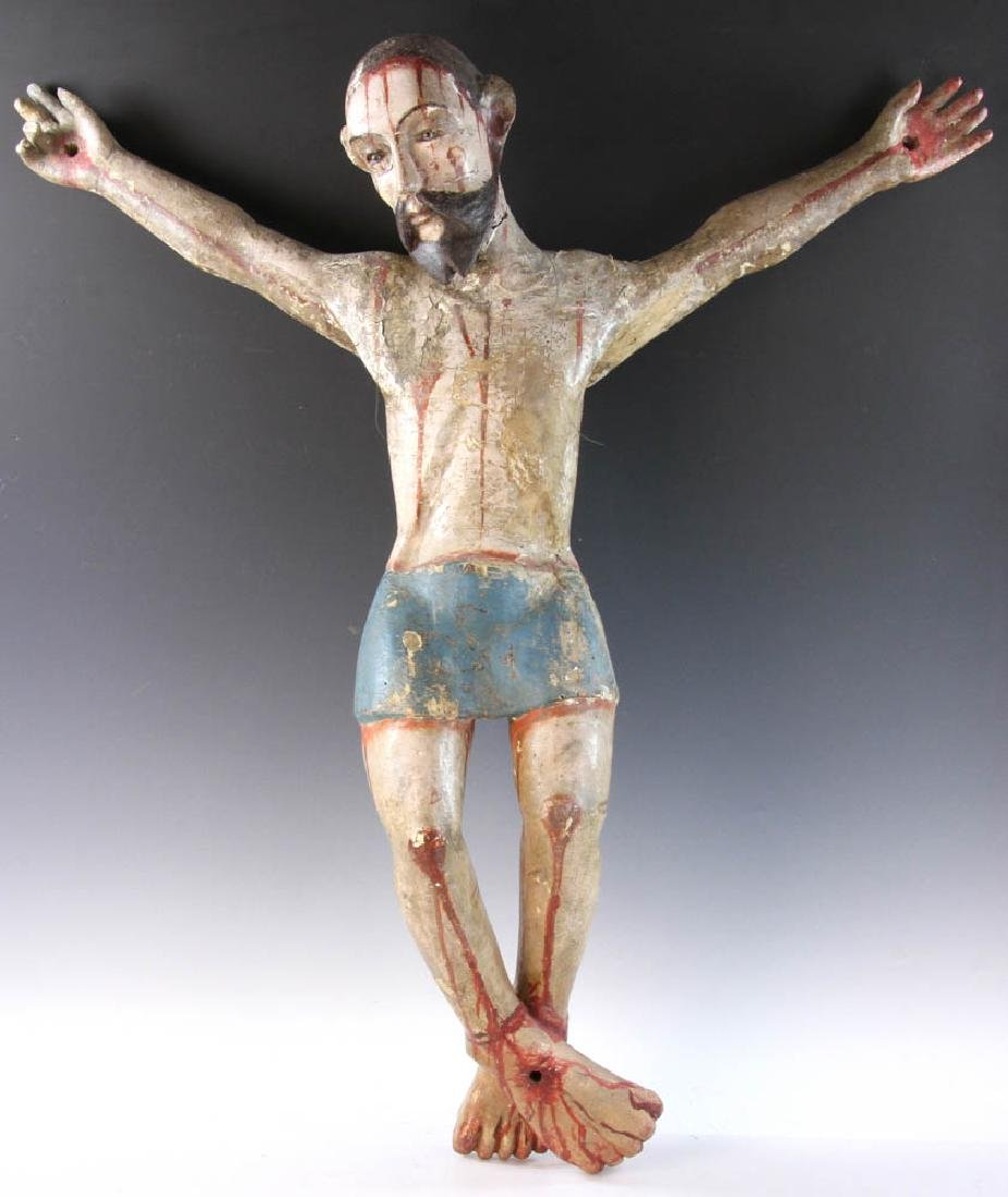18th/19th C. Mexican Painted Wood Christos