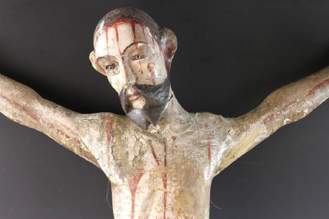 18th/19th C. Mexican Painted Wood Christos - 2