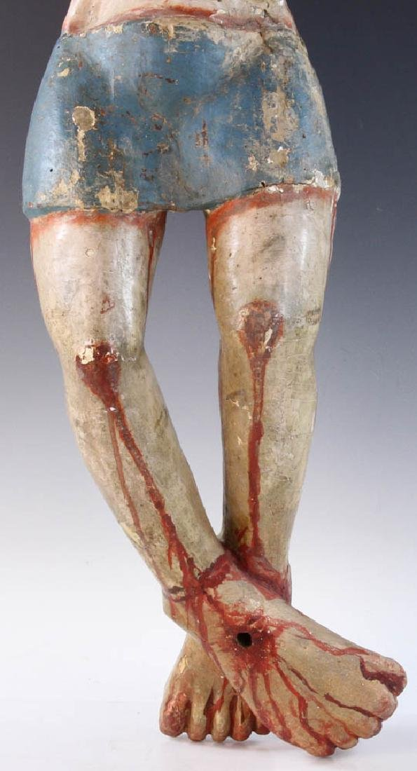 18th/19th C. Mexican Painted Wood Christos - 5