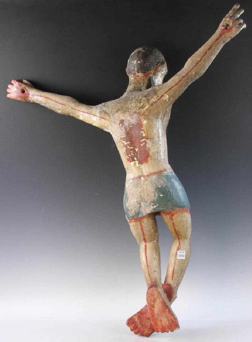 18th/19th C. Mexican Painted Wood Christos - 6