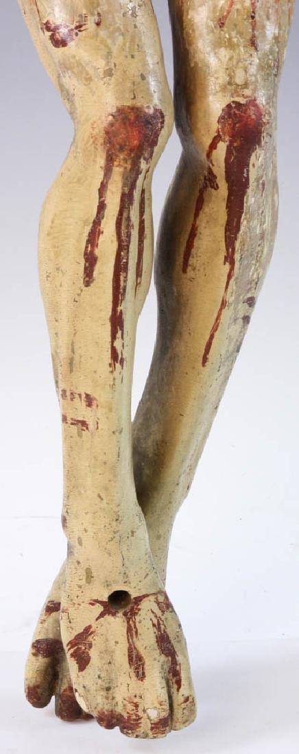 18th/19th C. Spanish Painted Wood Christos - 4