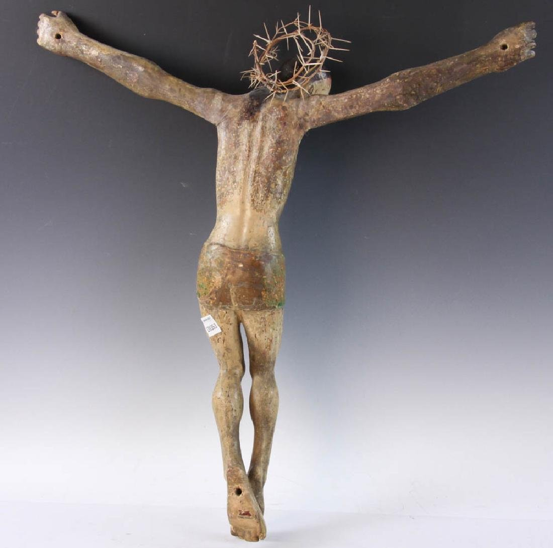 18th/19th C. Spanish Painted Wood Christos - 8