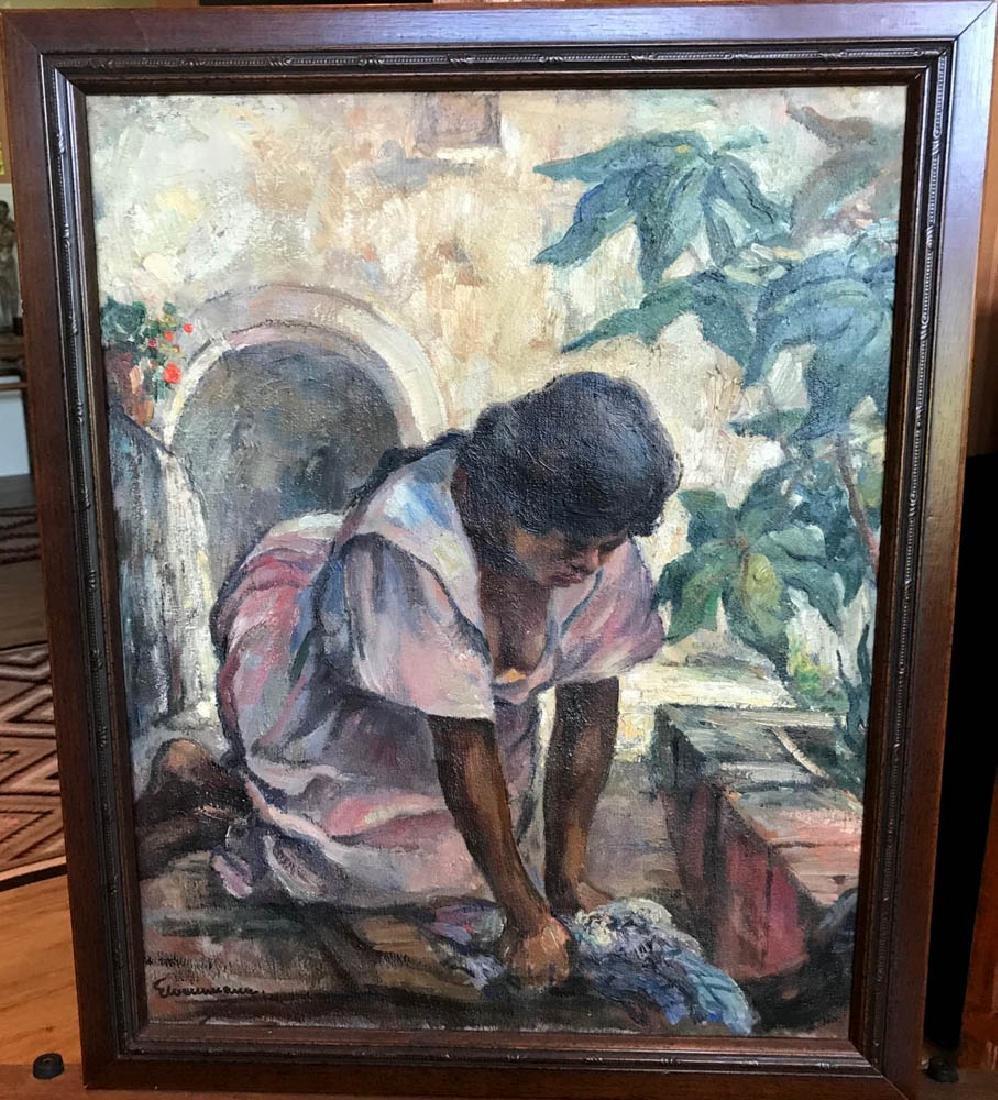 Elmer Weinmann, Wash Lady, Oil on Canvas