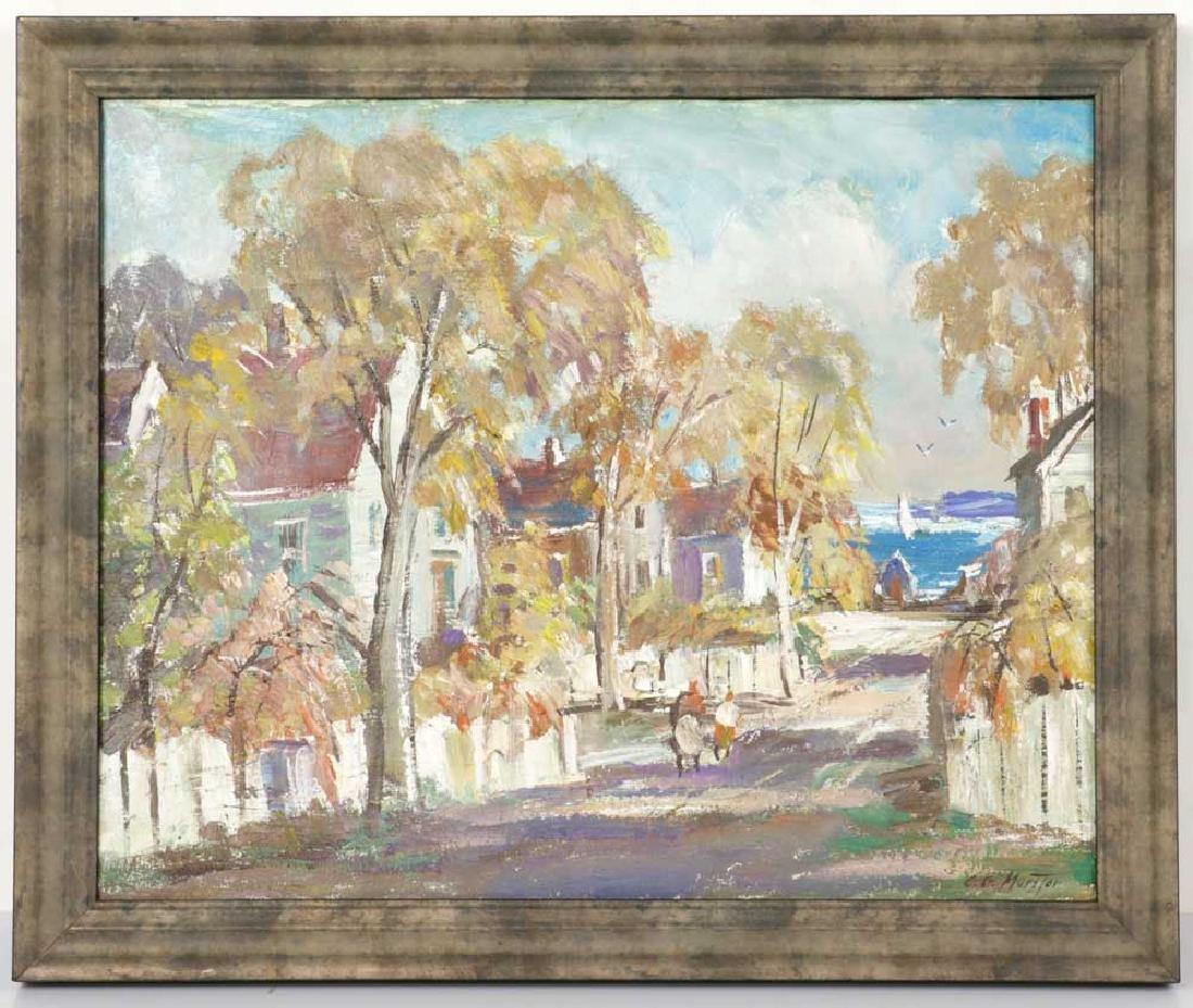 Charles Gordon Marston, Rockport, Oil on Canvas
