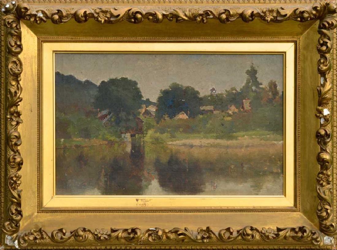 Attr to Henry G. Dearth, Village Scene