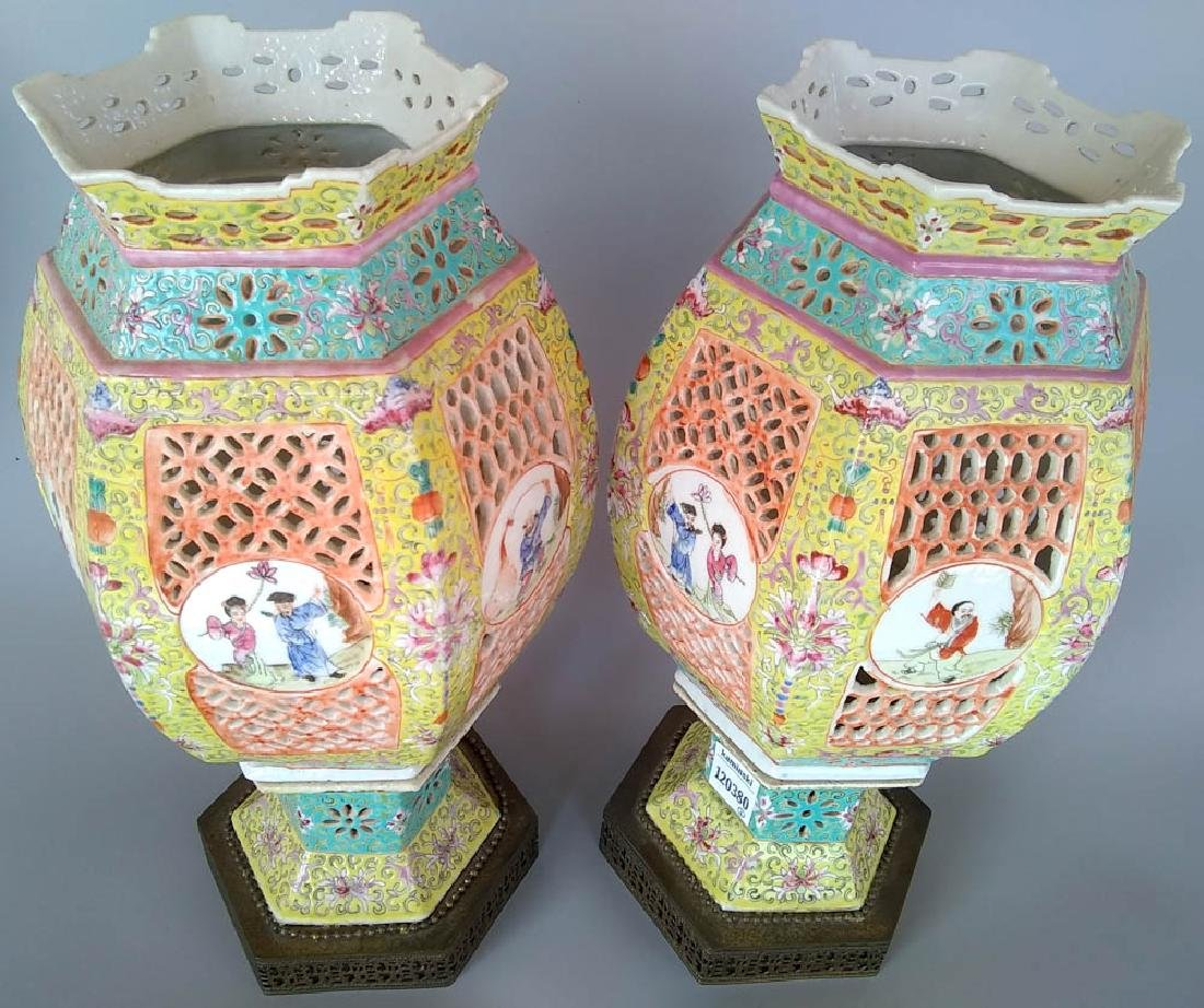 Pair of 19th C. Chinese Marriage Lanterns - 2