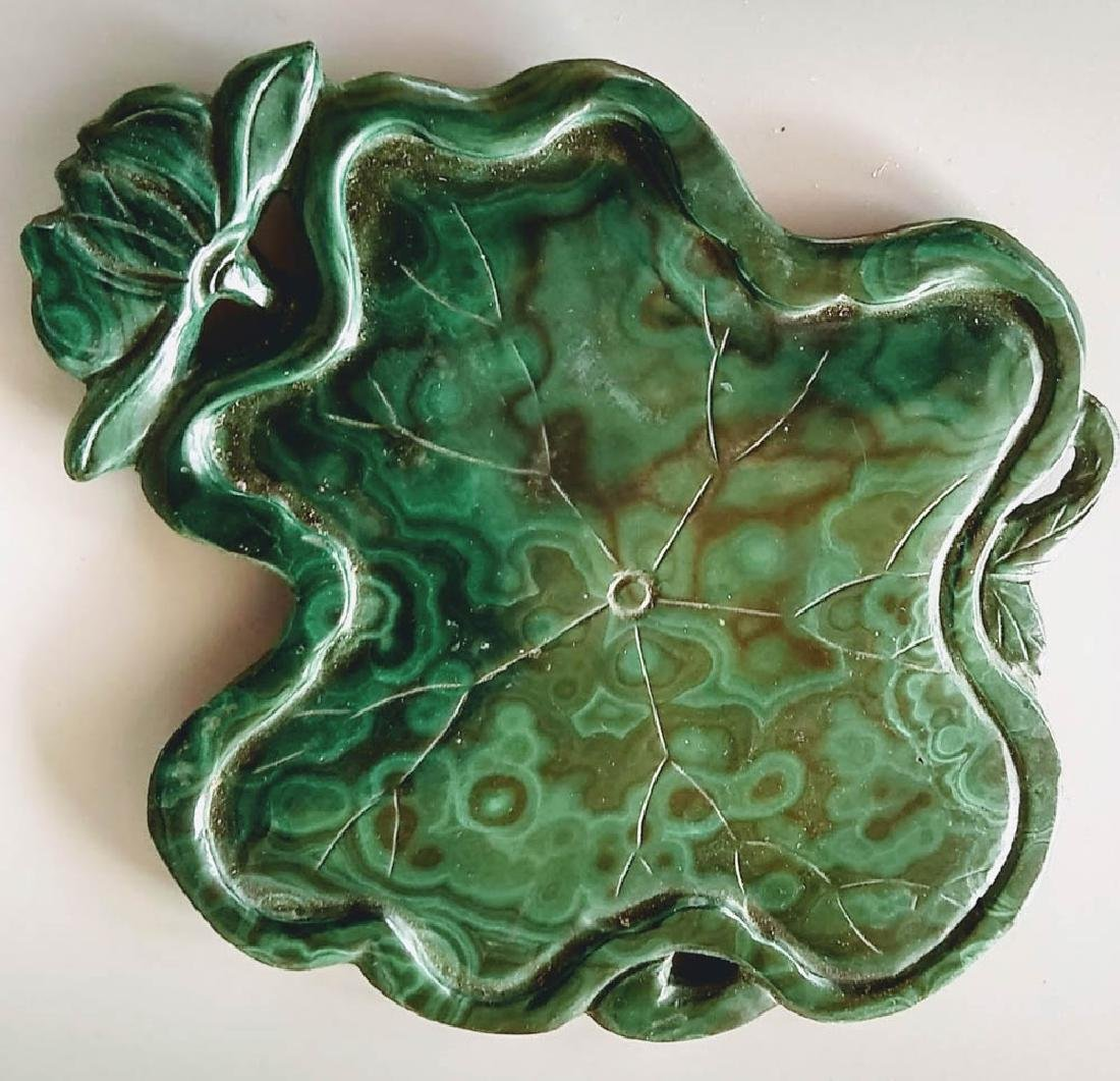 Antique Chinese Malachite Ink Tray - 2