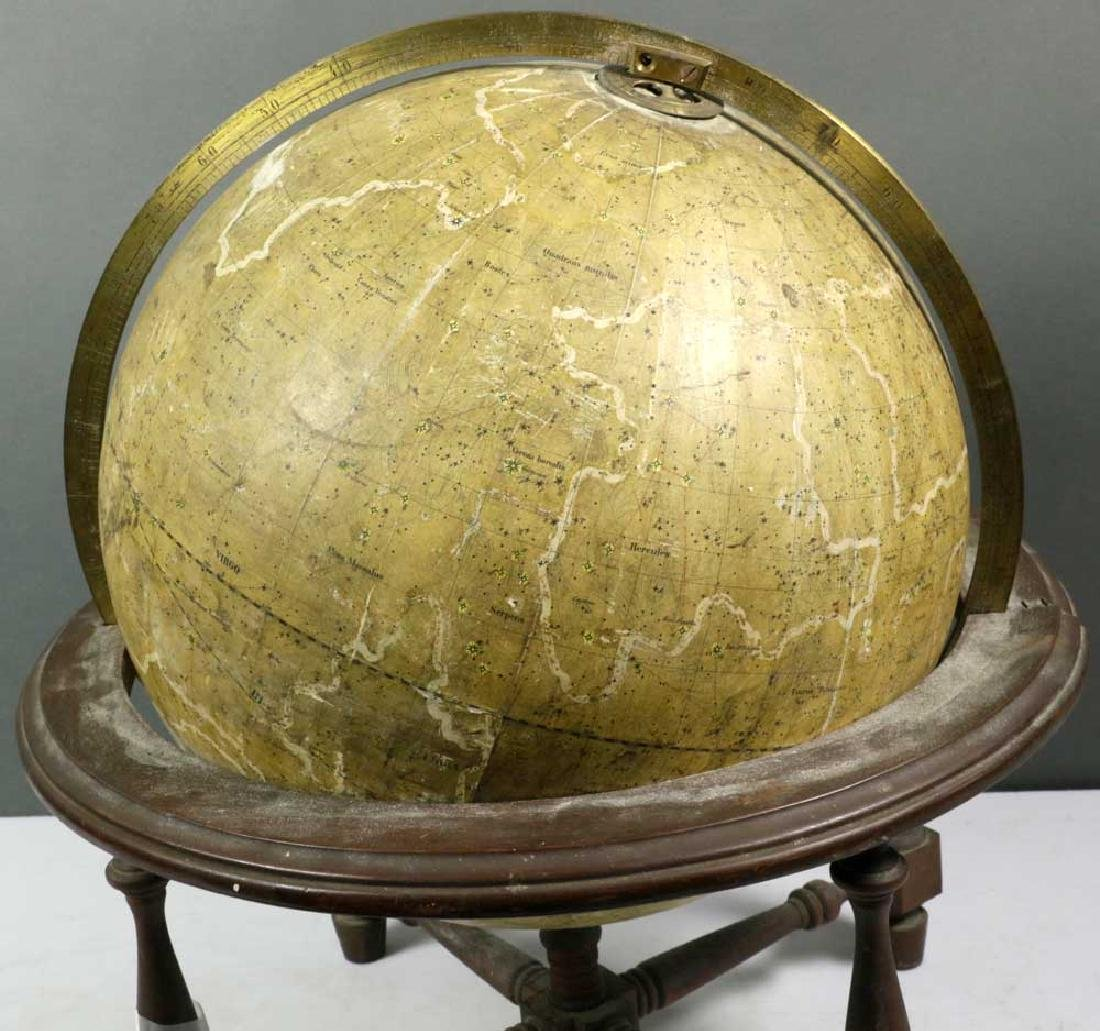 Antique 1867 Carl Adami Celestial Globe - 5