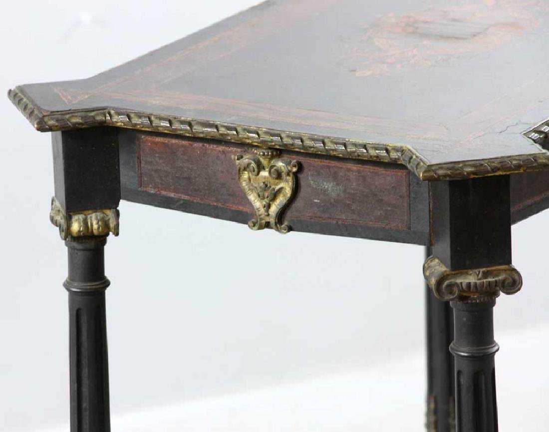 19th C. French Table with Marquetry Inlay - 3