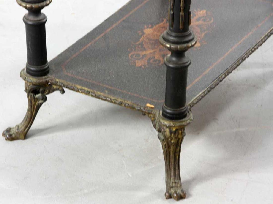19th C. French Table with Marquetry Inlay - 4