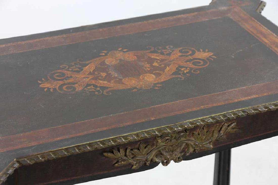 19th C. French Table with Marquetry Inlay - 5