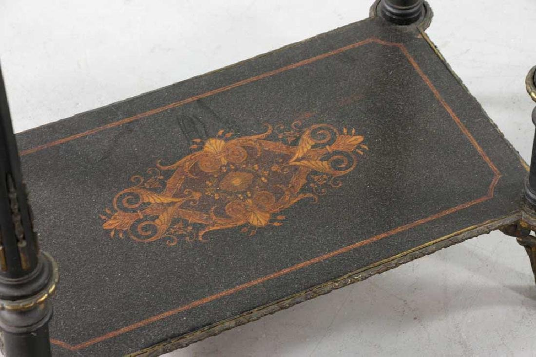 19th C. French Table with Marquetry Inlay - 6