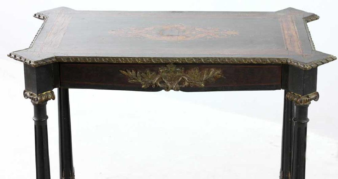 19th C. French Table with Marquetry Inlay - 7