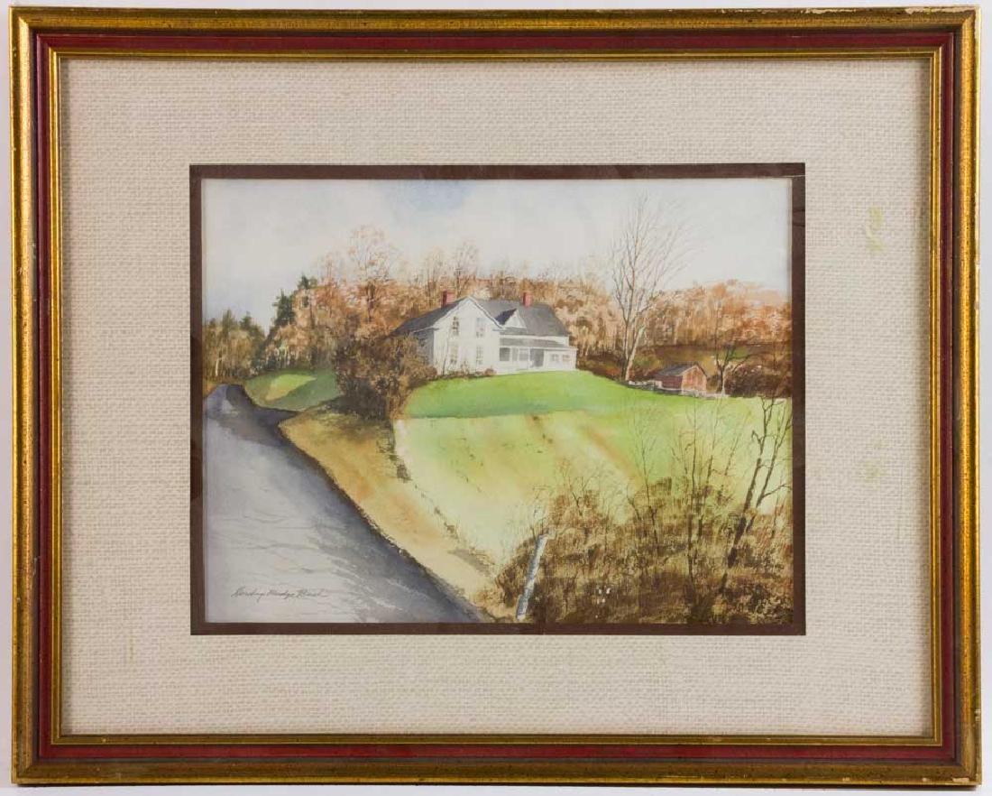 Harding Mudge Bush, House on Hill, Watercolor