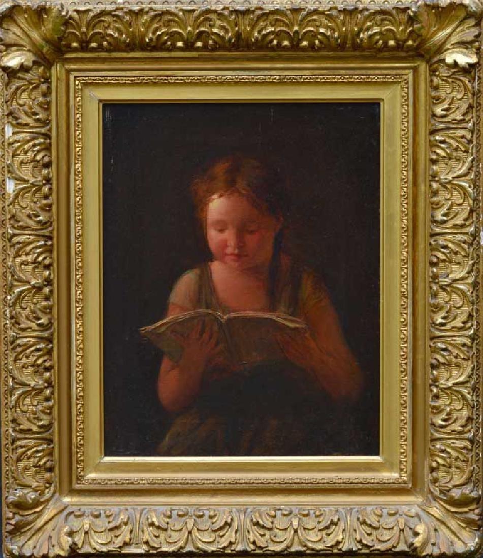 American School Portrait of Girl Reading
