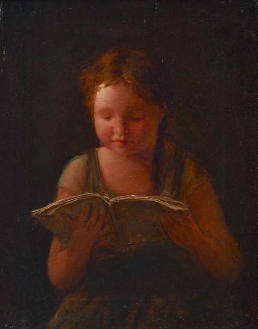 American School Portrait of Girl Reading - 2