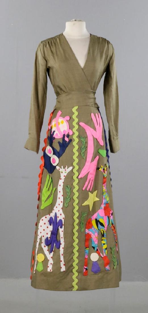 Sarff Zumpano Vintage Designer Evening Gown