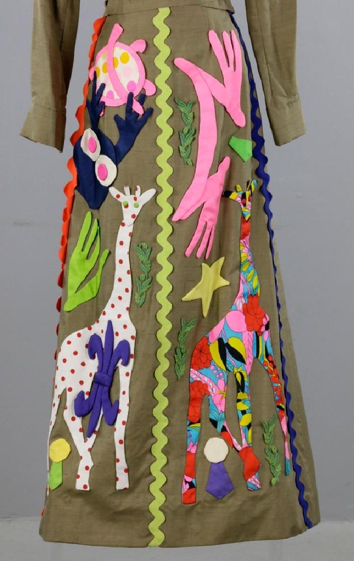 Sarff Zumpano Vintage Designer Evening Gown - 3