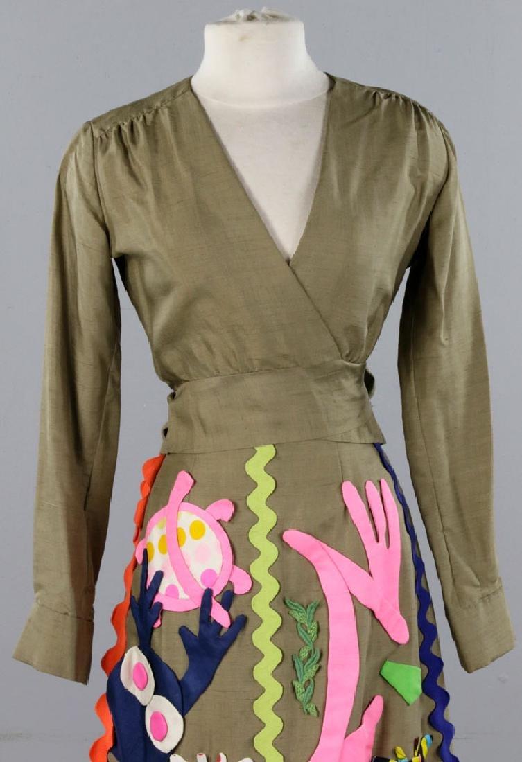 Sarff Zumpano Vintage Designer Evening Gown - 4
