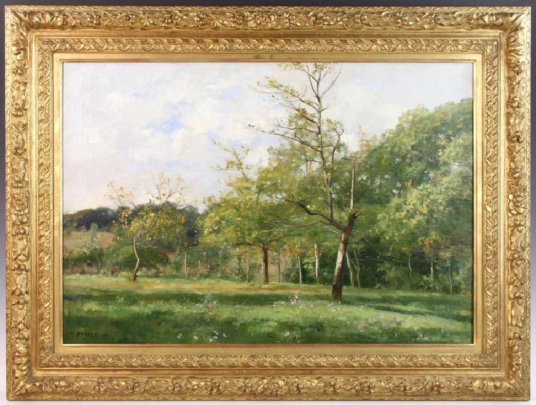 Pierre Damoye, Summer Landscape, Oil on Canvas