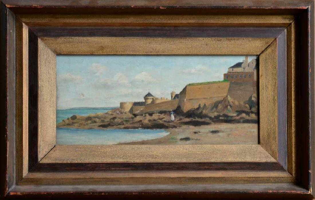 View of Saint Malo attr. to Daubigny