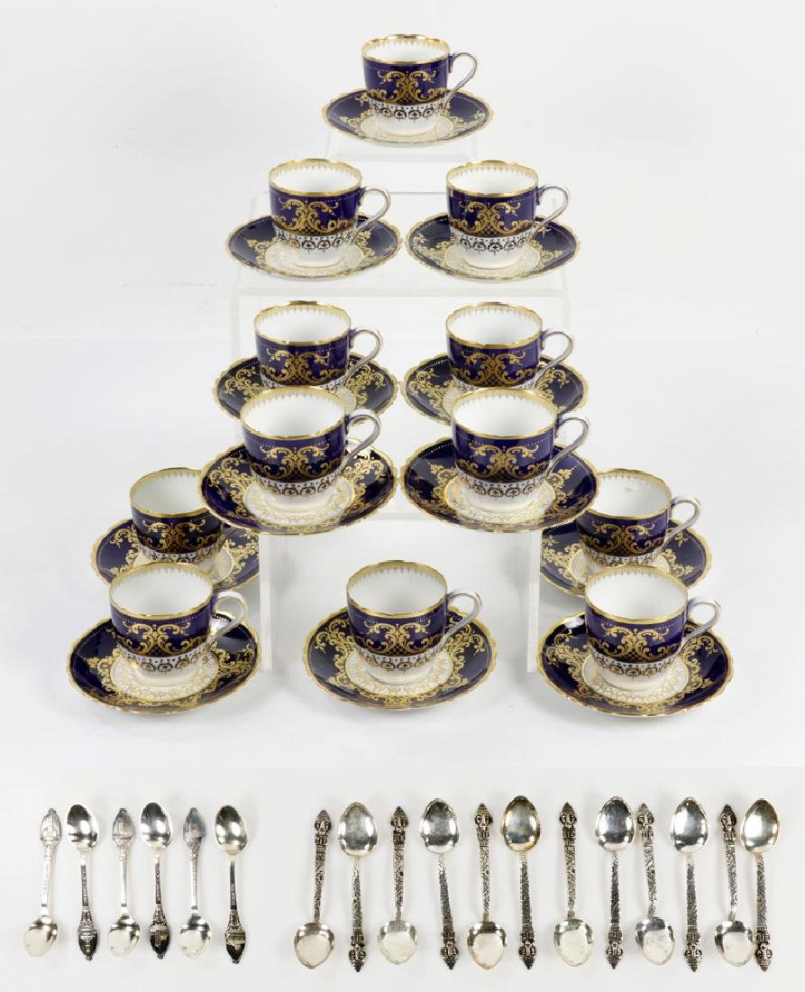 Lot of English Copeland Demitasse Cups and Saucers