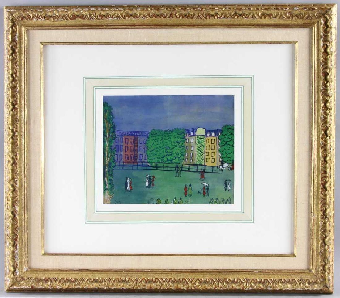 Raoul Dufy, Chapman at Bois de Boulogne, Watercolor