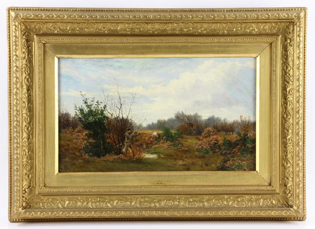 Trappes, Hunting, Oil on Canvas
