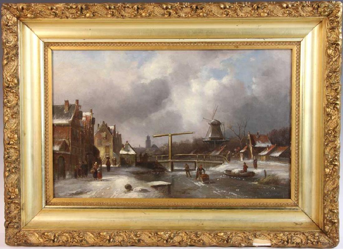 Charles Leickert, Dutch Winter, Oil on Canvas