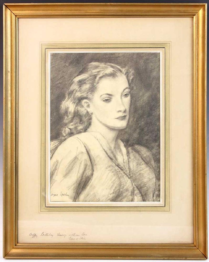 Eugene Speicher, Portrait of Woman, Drawing