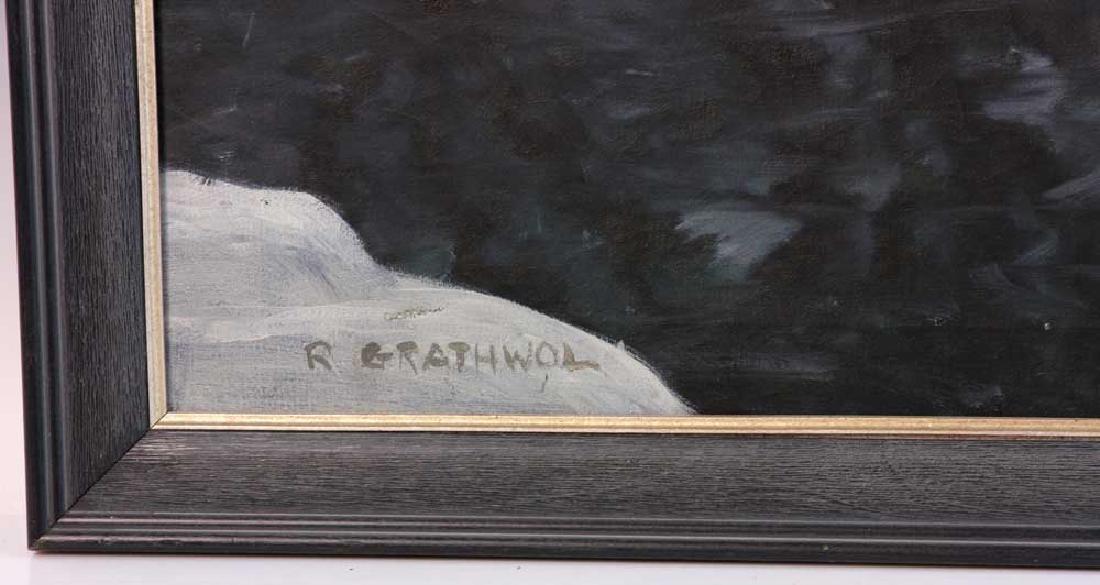 Ray Anthony Grathwol, Winter Landscape, Oil on Canvas - 4