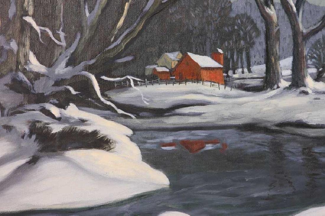 Ray Anthony Grathwol, Winter Landscape, Oil on Canvas - 5