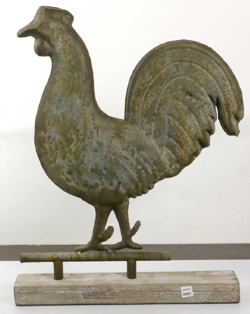 Antique Tin Rooster Weathervane