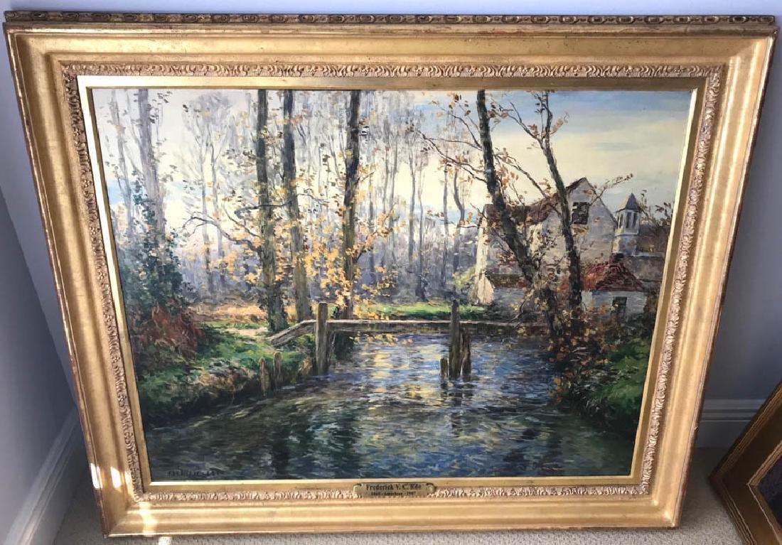 Frederic Ede, Farm House, Oil on Canvas