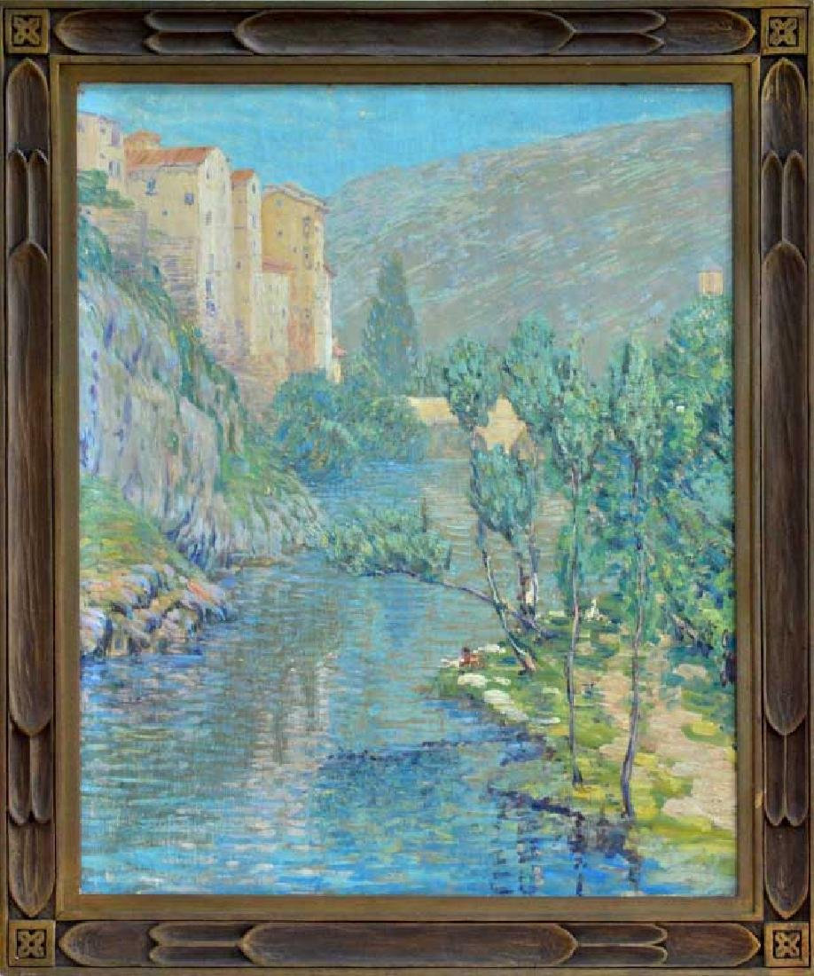 Impressionist Italian Landscape Oil on Canvas