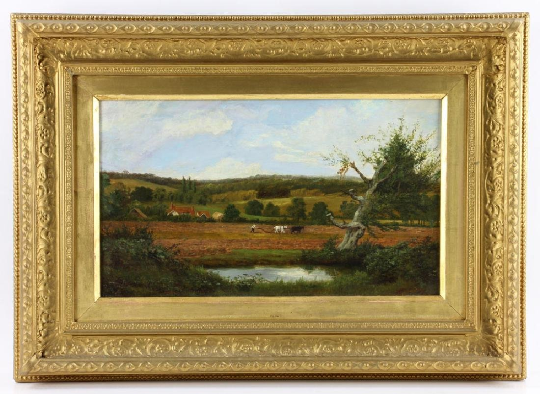Trappes, Farm Scene, Oil on Canvas