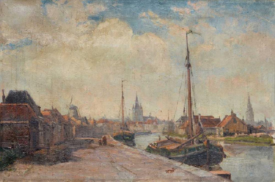 Impressionist Canal Scene