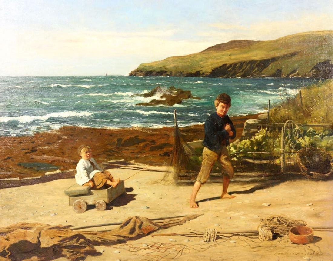 J. H. E., Beach Scene, Oil - 3
