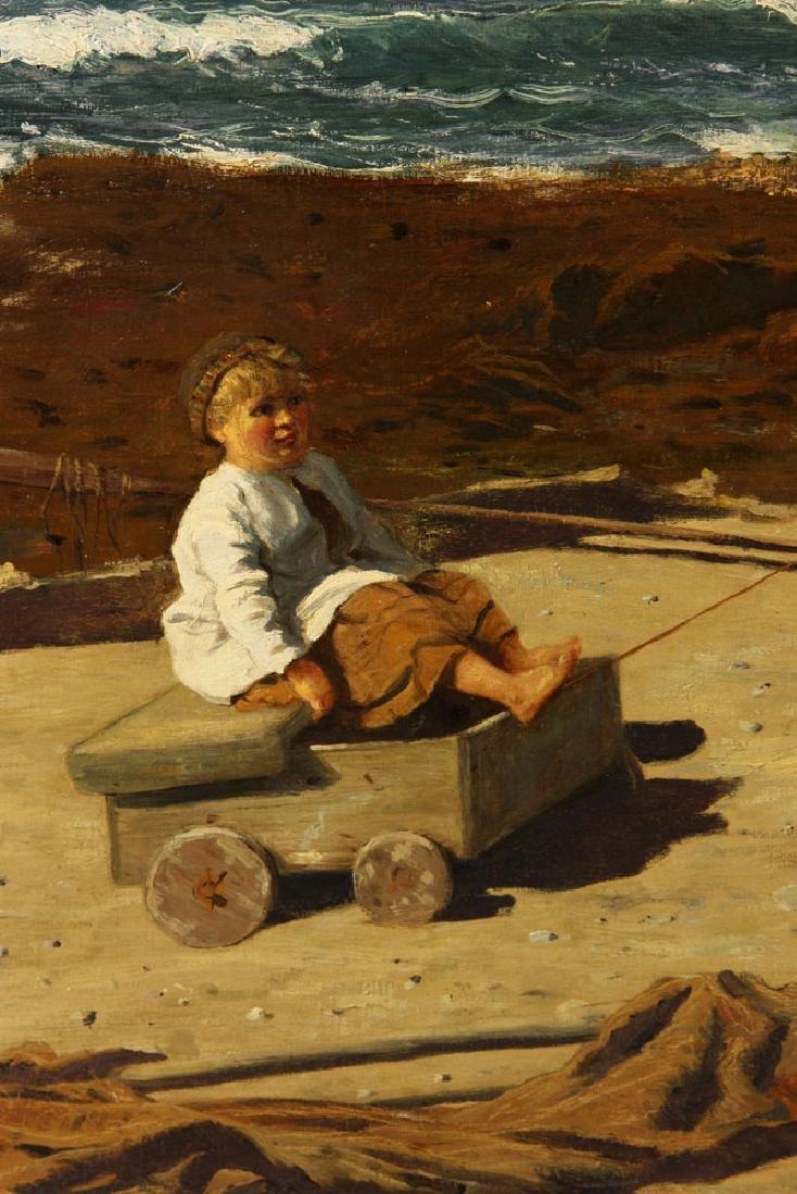 J. H. E., Beach Scene, Oil - 5
