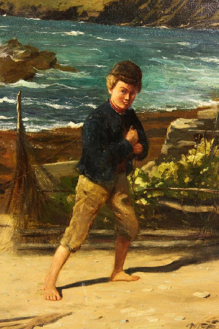 J. H. E., Beach Scene, Oil - 7
