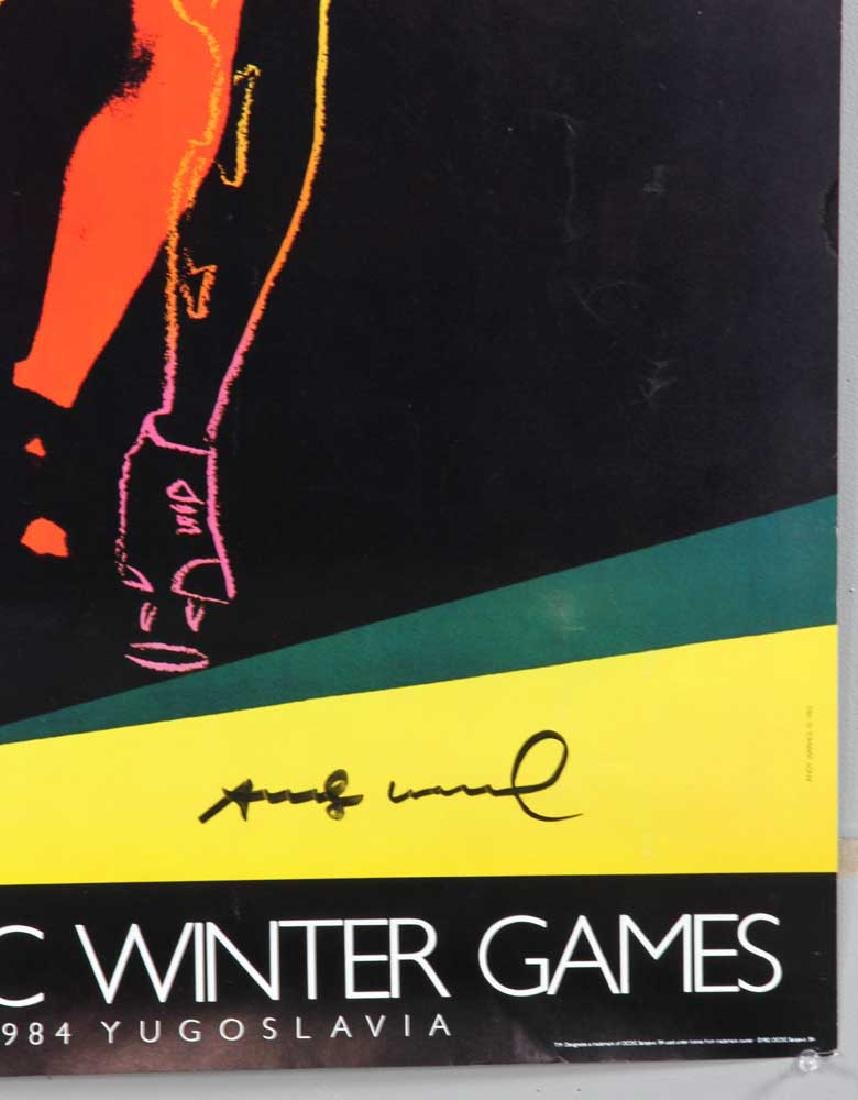 Andy Warhol Autographed '83 Olympics Poster - 3